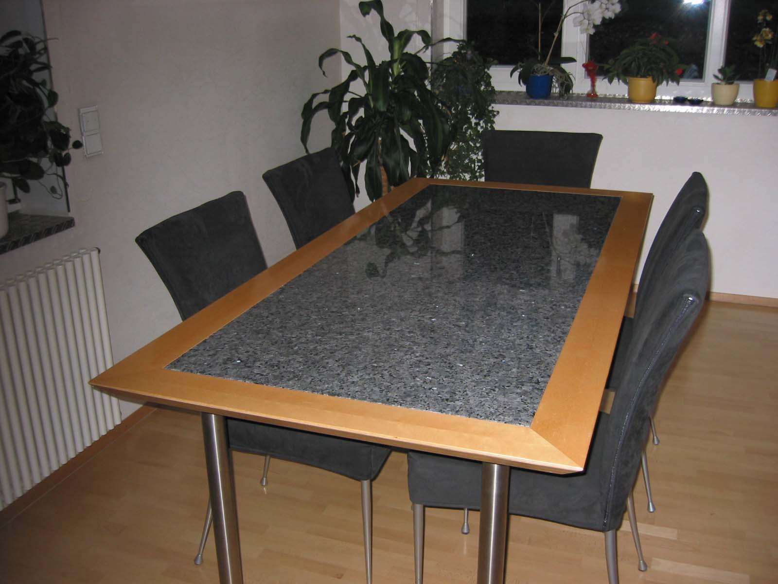 Tischplatte Laprador Blue Pearl