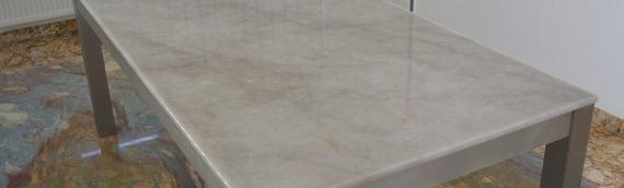 Tischplatte Bianco Quarz